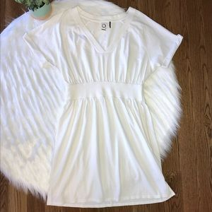 Anthropologie Babydoll Dress Size Small White